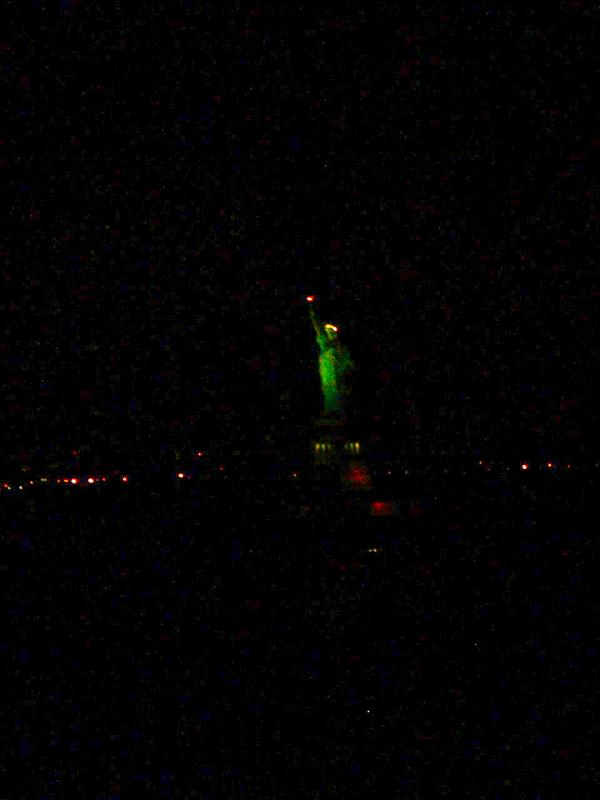 Lady Liberty, coming into New York Harbor