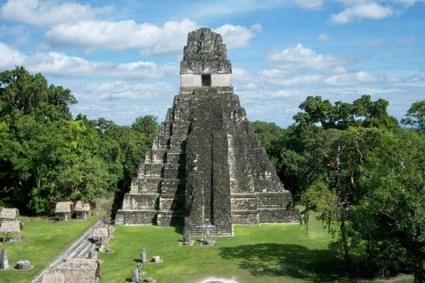 TIKAL, GUATEMALA - TEMPLE OF THE GIANT JAGUAR