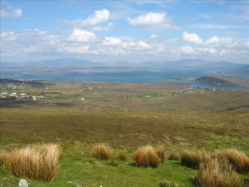 Achill Sound from above