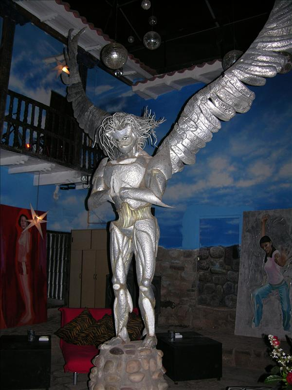 This was a cool sculpture at a cool restaurant we went to: Fallen Angel.  Highly recommended.
