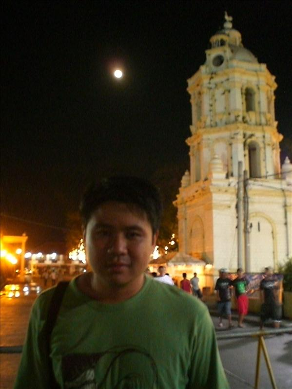 Vigan Catherdral belfry in moonlight