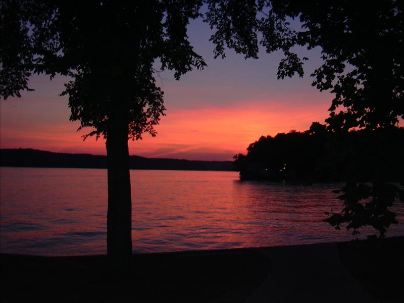 beautiful sunset at the Ozarks