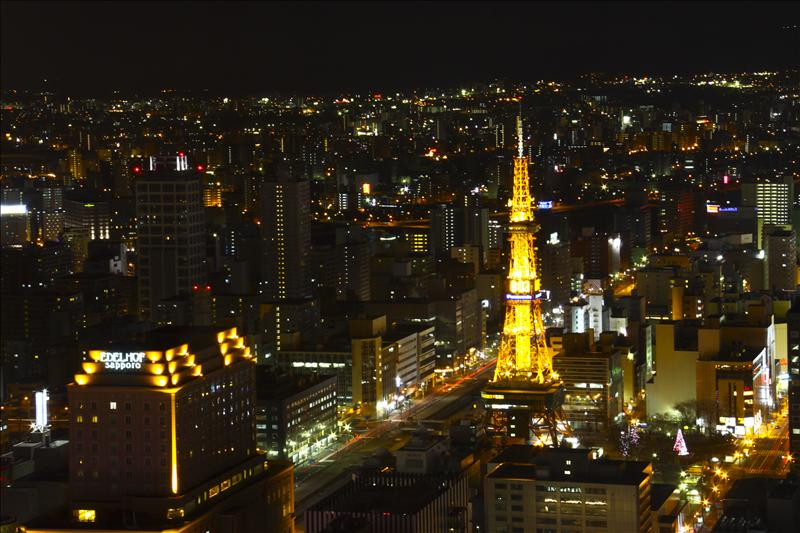 Sapporo Tower viewed from JR Tower