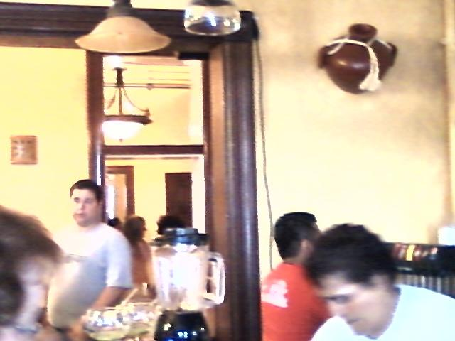 a view from the bar toward one of the dining rooms