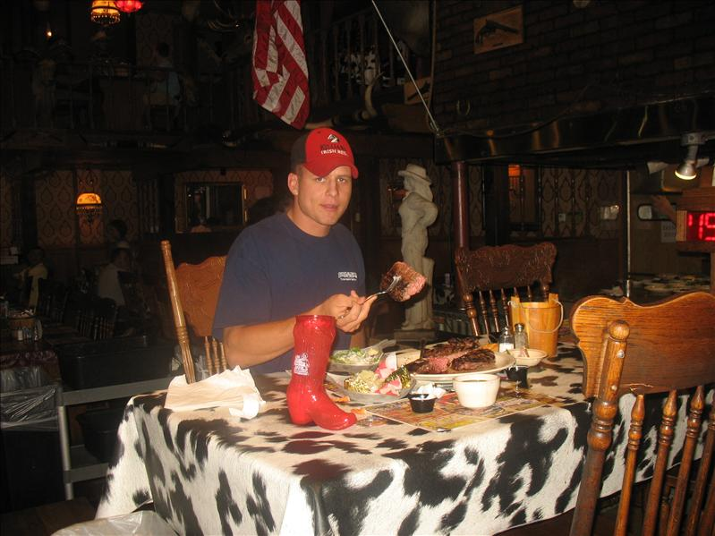 JC from Utah finished his 72 ounce steak in just 56 minutes!