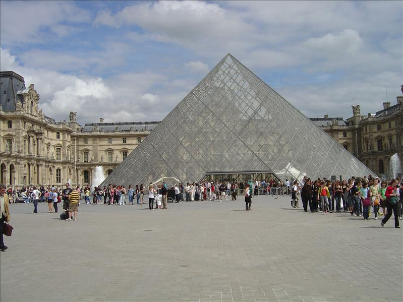 The Glass  Pyramid main entrance