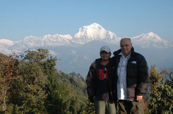 Ramoo and peter in Annapurna Treks