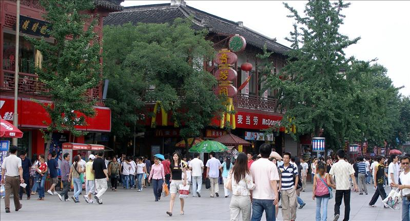 A Mcdonal on Nanking Shopping Street