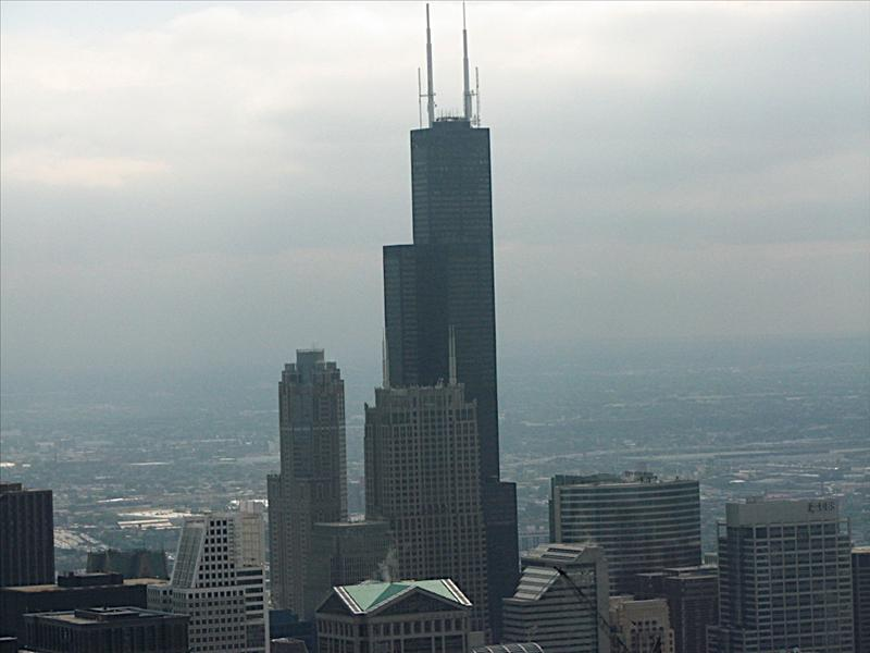 John Hancock Observatory - Chicago, View of Sears Tower