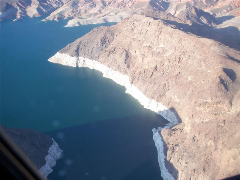Lake Mead - the white band means about 150ft drop in water level!