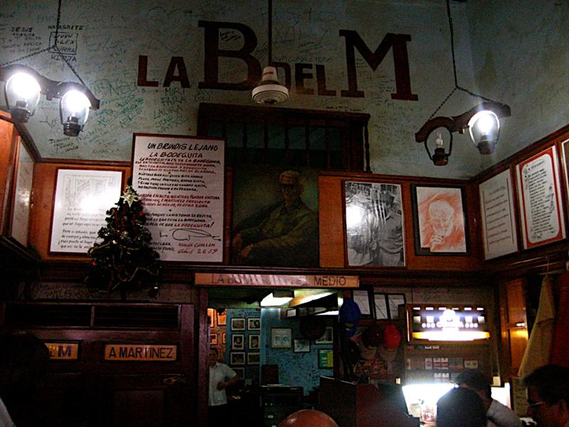 Hemmingway's second favorite bar for Mohitos, La Bodeguita del Medio