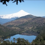 View of Villarrica Volcano from National Park