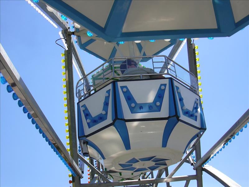 a gondola on the 1904 replica ferris wheel