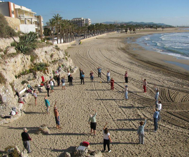 .. including Tai-Chi on the beach ...