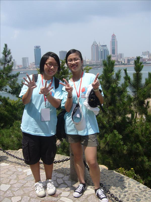 Jessica and Cherry@ 小青島