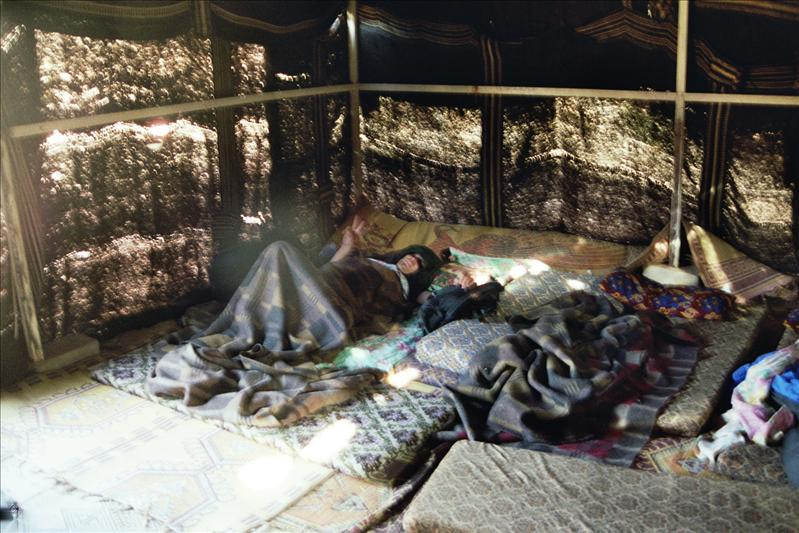 spending the night in a bedouin tent