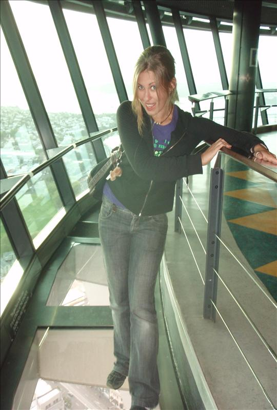 The glass floor-thing in Sky Tower is a sick, very siiiick  concept!! No love from me!