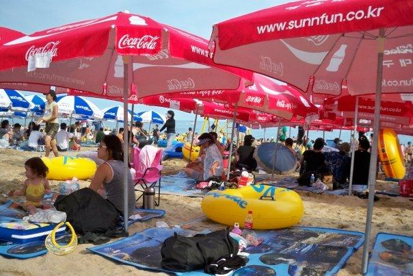 08/15 - busan - haeundae beach - 