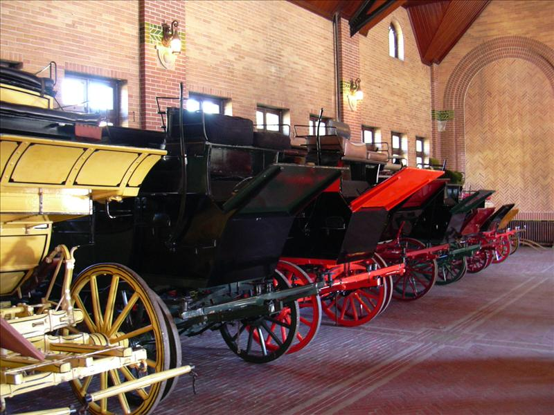 You will see Budweiser horse drawn carriages and historic artifacts like these