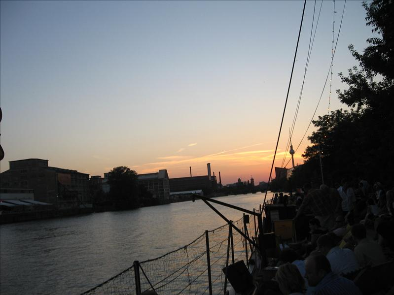 Sunset on the Spree