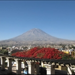 View of Mount Illampu from Arequipa