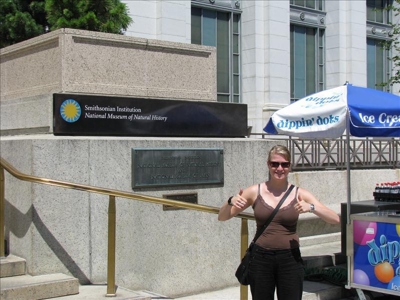 alle musea in DC zijn gratis, dus Ilse wou perse naar het natural history museum
