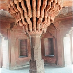 The central pillar of Diwan-i-khas