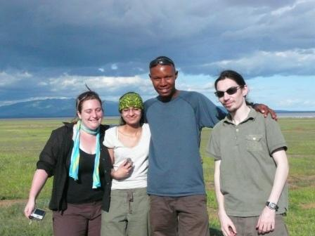 Megane, Suky, Simbo and David - my safari mates