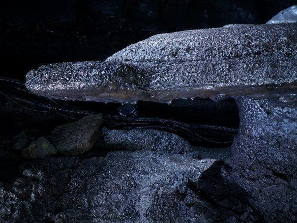 "08/28 - manjanggul -  this is known as ""turtle rock"" - a lava raft!"