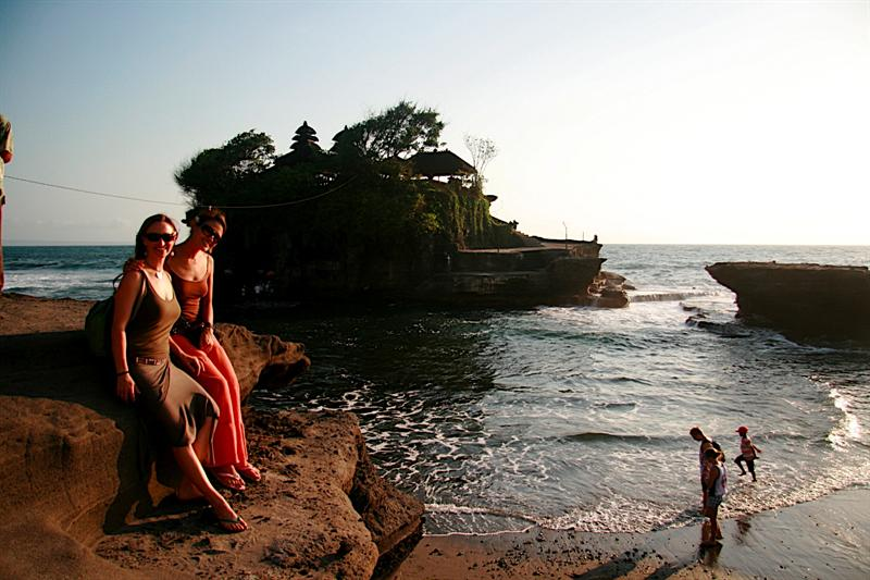 Tanah Lot, one of the 9 temples in Bali.