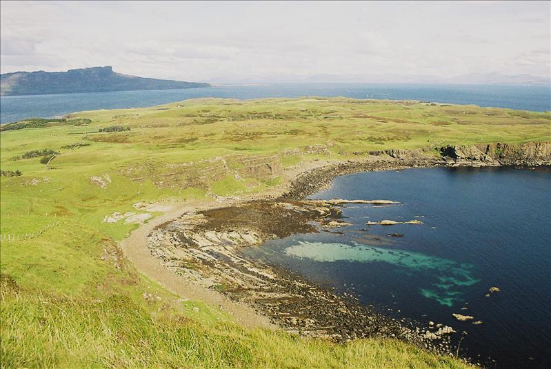 Camas Mor, Eigg in distance