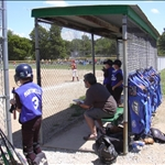 waiting in the dugout