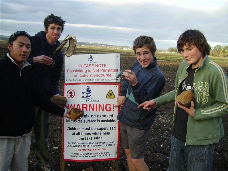 Do not walk on Lake•Ballarat•Australia•2007