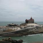 Vivekananda Rockfort, Kanyakumari... Kanyakumari is the southern tip of India, and it is merging of 3 seas.. Bay of Bengal, Arabian Sea and Indian Ocean
