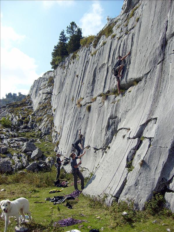 escalade•Tim•Cyril•Pierre du Moëlle•2008