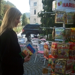 Jess picking at the haribo rack