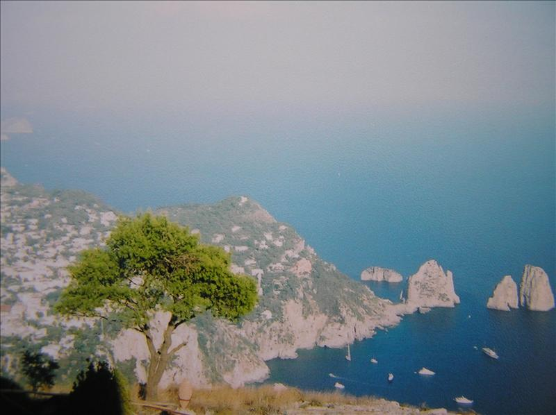 Mediterranean sea from the island of Capri