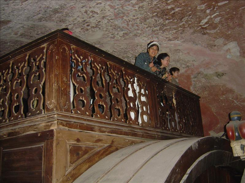 Large underground wine cellar