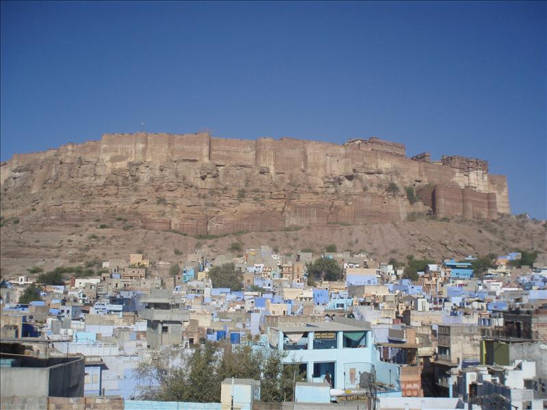 Jodhpur with Mehrangarh Fort in background