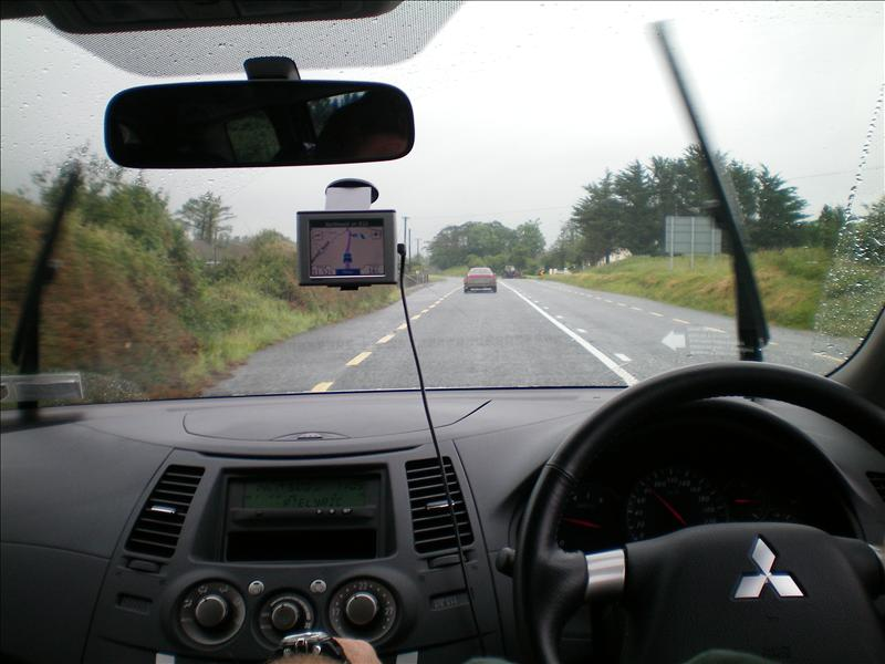 That is pete driving on the wrong side of the road!!! (I mean the LEFT side of the road!!!)