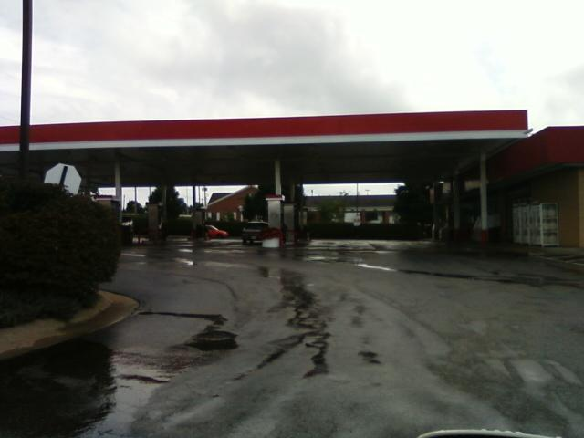 many gas pumps for gasoline after a rain