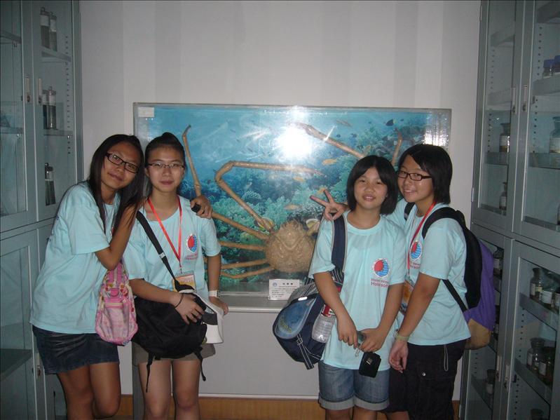 Tiffany, Cherry, Stella(上海) and Jessica @ 中國科技研究院海洋研究所