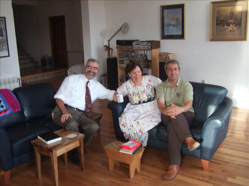 The Pastor, His Wife and Another member of Niksic baptist Church