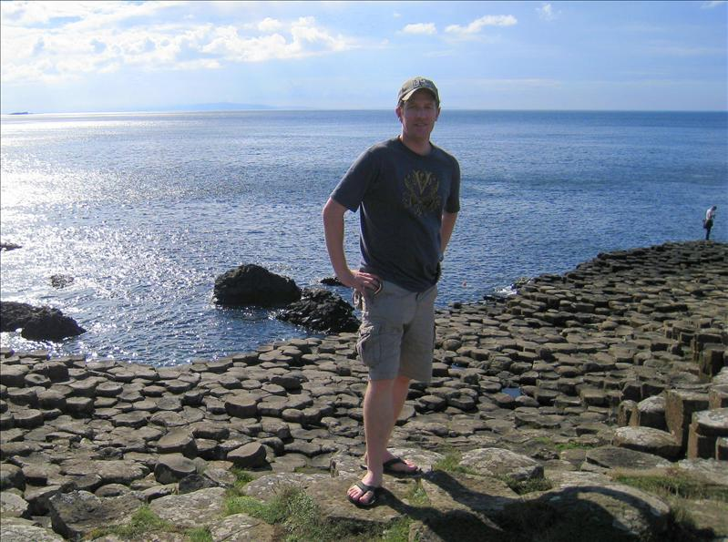 Joel at the Giant's Causeway