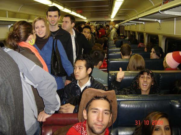 trein terug naar huis