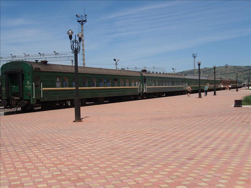 Naushki, the Russian border station