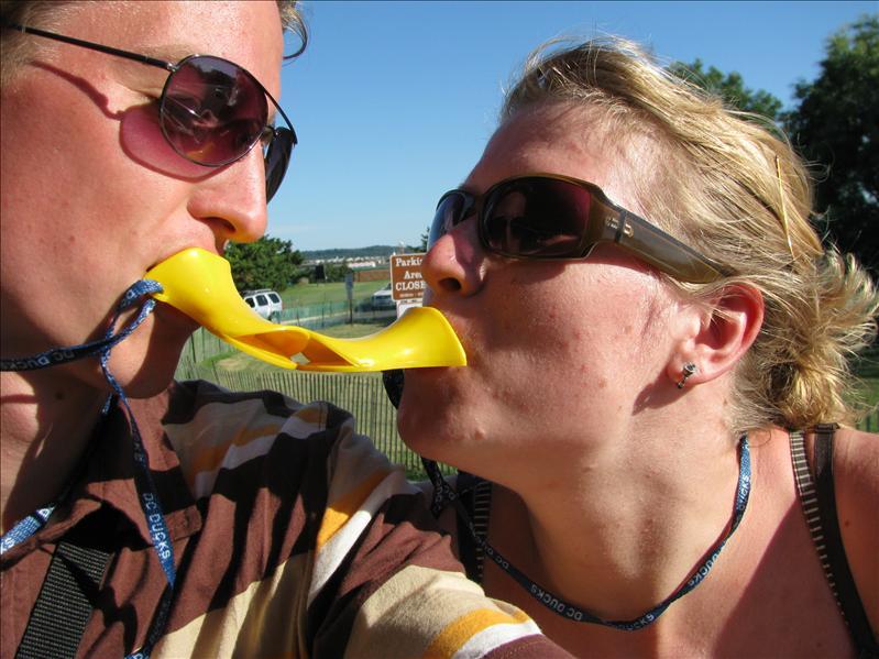 pittig (het amfibievoertuig heette een duck)