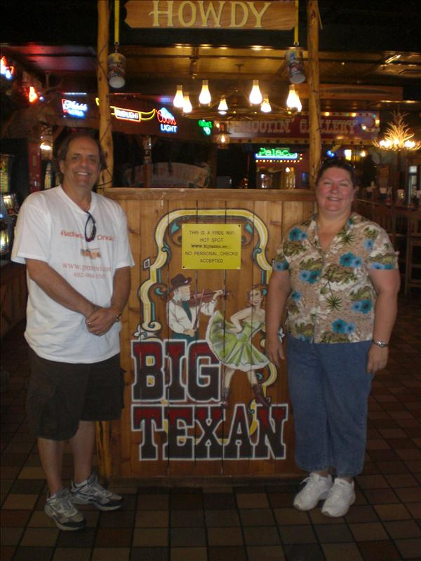"Mark & I in the ""Big Texan"""