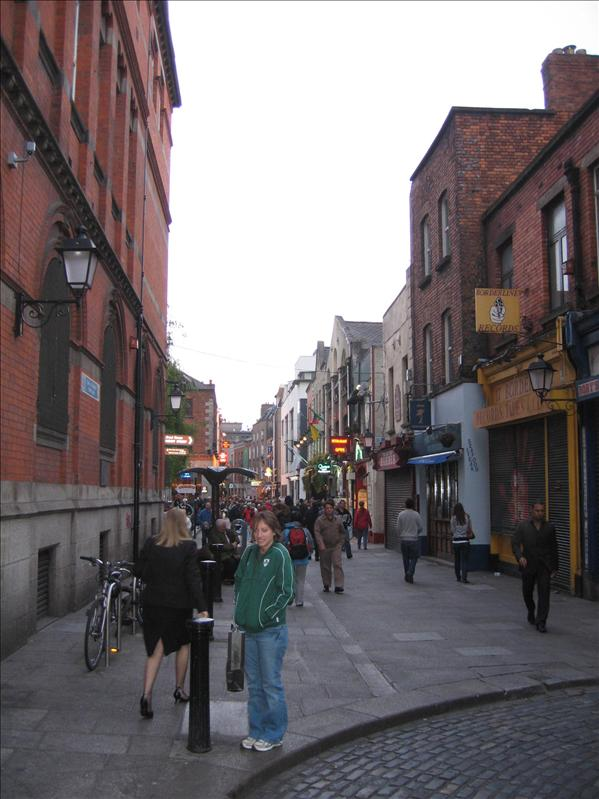 Temple Bar.. ate at the Bad Ass Cafe where Sinead O'Connor worked