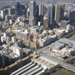 view of federation square from  eureka